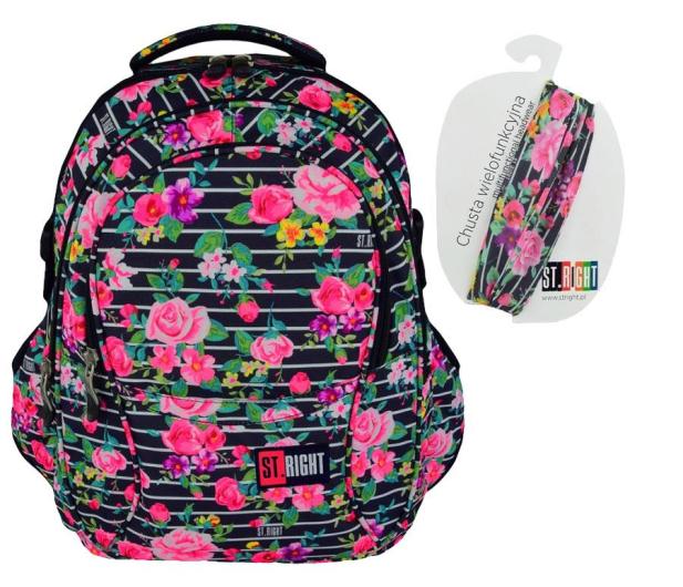 Majewski ST.Right Plecak szkolny Light Roses BP-01  - 421809 - zdjęcie
