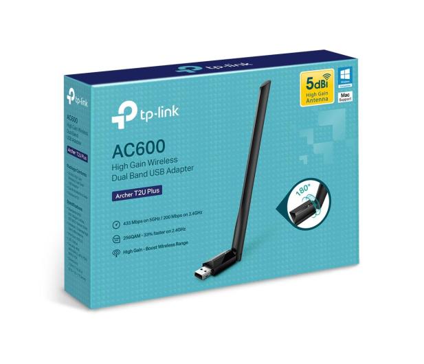 TP-Link Archer T2U Plus (600Mb/s a/b/g/n/ac) DualBand  - 507112 - zdjęcie 3