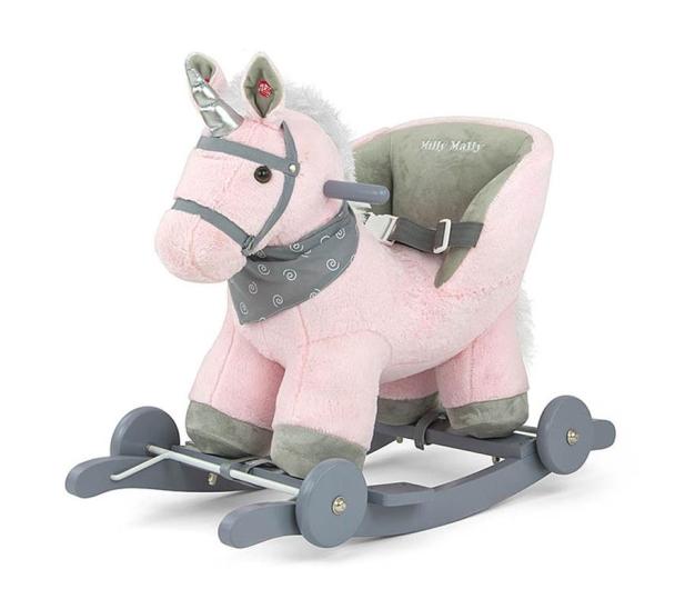 MILLY MALLY Koń na biegunach Polly różowy - 460876 - zdjęcie