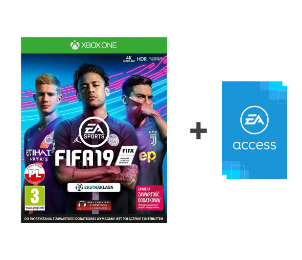 Xbox FIFA 19 - Kupon + EA Access - 450975 - zdjęcie