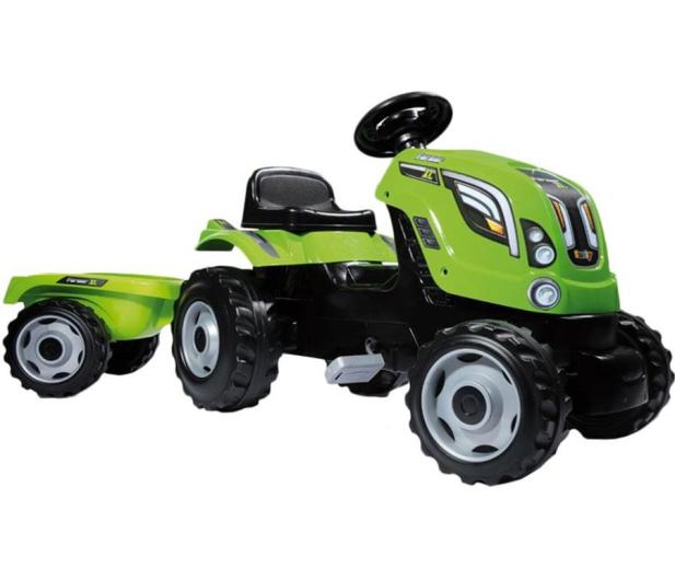 Smoby Traktor na pedały XL z przyczepą zielony  - 349282 - zdjęcie