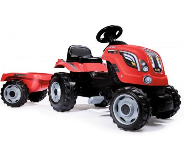 Smoby Traktor XL czerwony - 415932 - zdjęcie