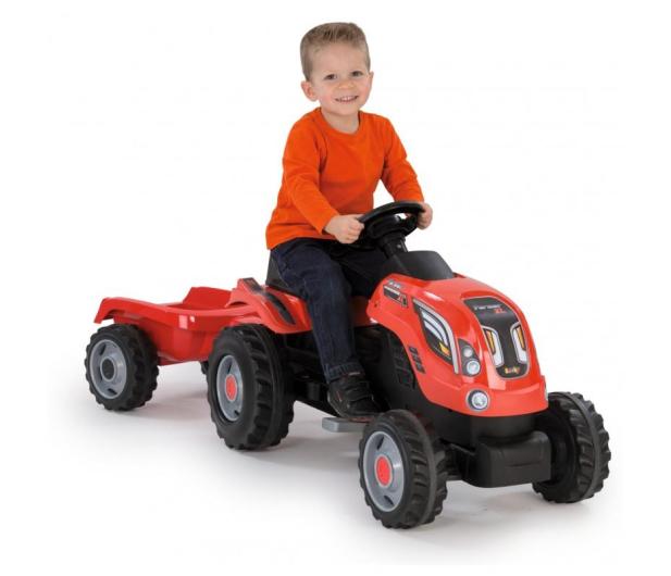 Smoby Traktor XL czerwony - 415932 - zdjęcie 4