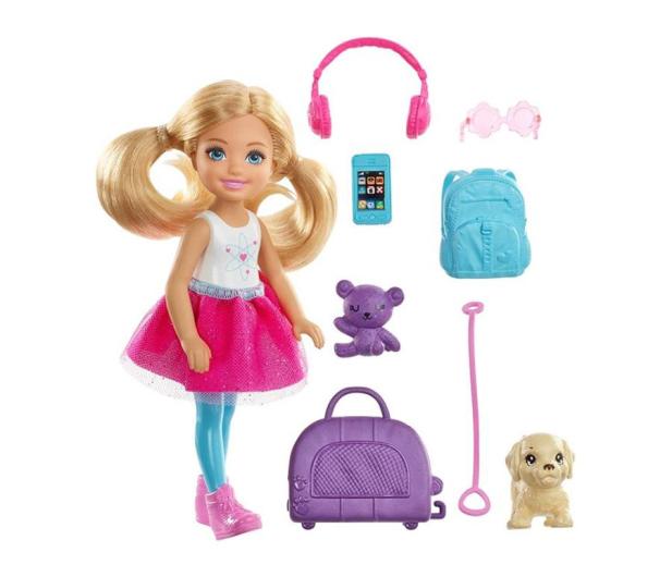 Barbie Lalka Chelsea w podróży z akcesoriami - 471314 - zdjęcie