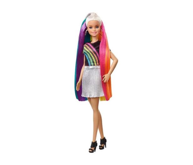Barbie Błyszczące tęczowe włosy Lalka - 471309 - zdjęcie
