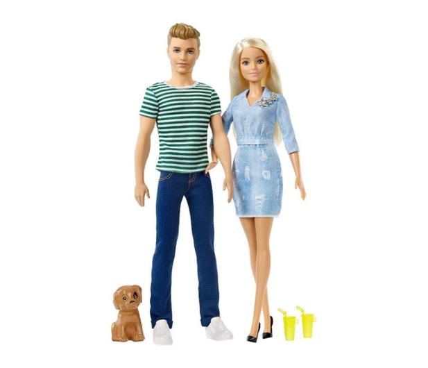 Barbie Zestaw Lalka i Ken z pieskiem - 452173 - zdjęcie