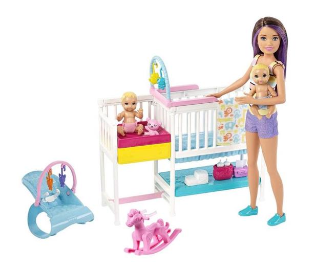 Barbie Zestaw Opieka Nad Maluszkiem + Lalka - 487228 - zdjęcie