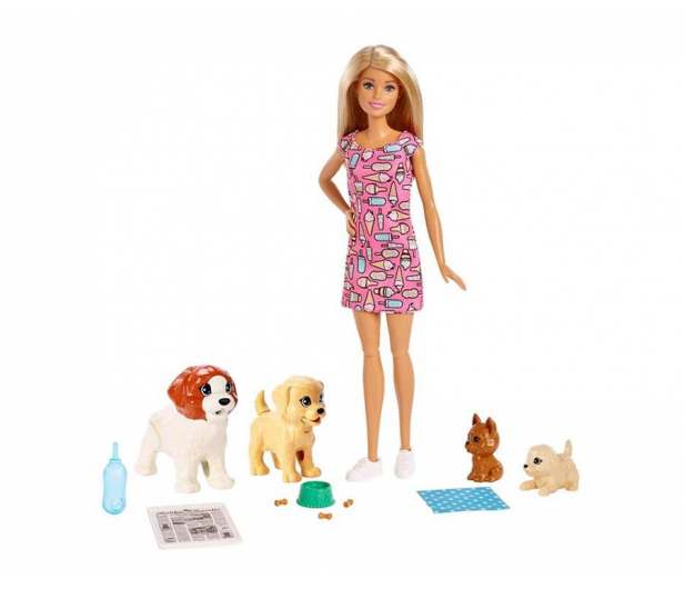 Barbie  Opiekunka piesków zestaw z lalką - 471305 - zdjęcie