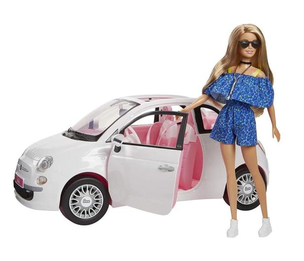 Barbie Auto Fiat 500 z Lalką - 483528 - zdjęcie