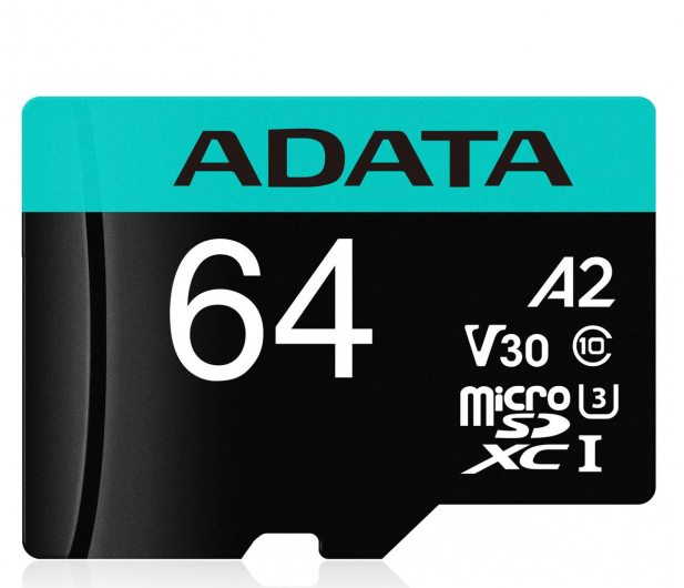 ADATA 64GB Premier Pro U3 V30S A2 + adapter  - 512448 - zdjęcie