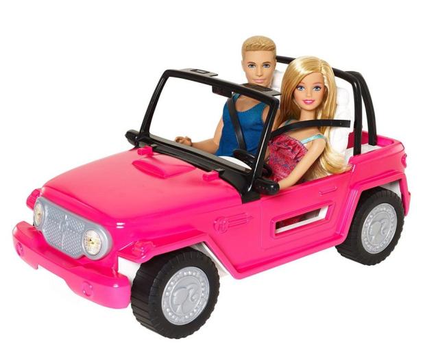 Barbie Plażowy samochód terenowy + Barbie i Ken - 512702 - zdjęcie