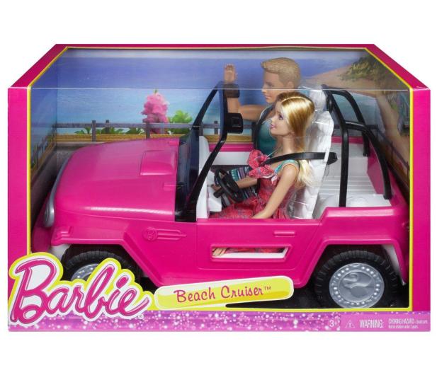 Barbie Plażowy samochód terenowy + Barbie i Ken - 512702 - zdjęcie 3