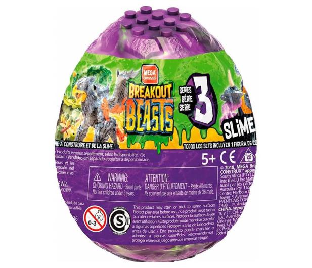 Mattel Breakout Beasts Jajo ze slimem - 512930 - zdjęcie