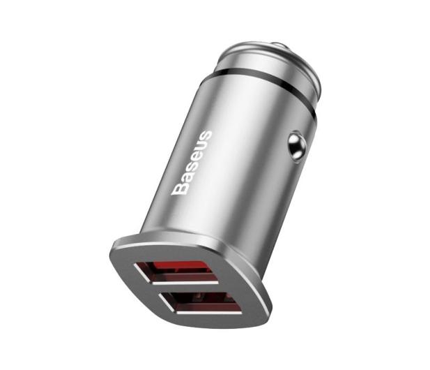 Baseus Ładowarka samochodowa 2x USB, QC 3.0 (srebrny) - 509281 - zdjęcie 3