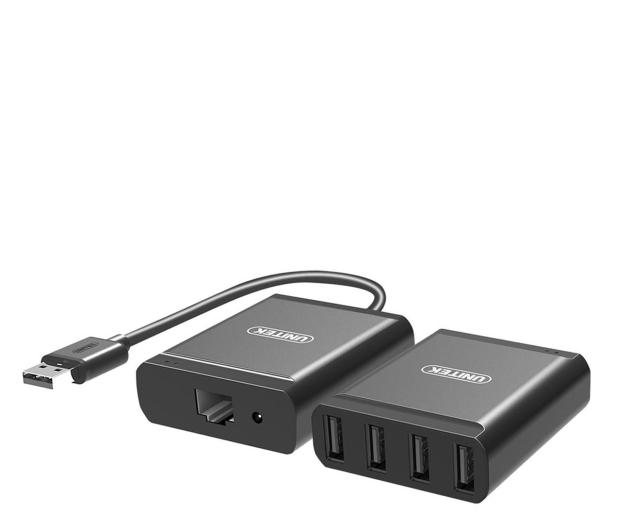 Unitek Przedłużacz USB 2.0 - 4x USB (po skrętce RJ-45) - 517665 - zdjęcie