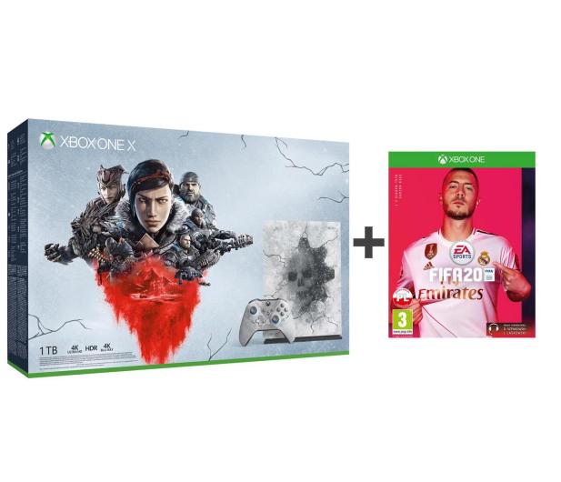 Microsoft Xbox One X 1TB Limited Ed. + GoW 5 + Fifa 20 - 518523 - zdjęcie
