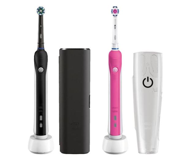 Oral-B Pro 750 czarna + Pro 750 różowa - 519442 - zdjęcie