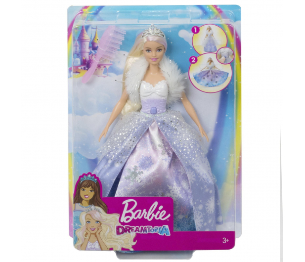 Barbie Księżniczka Lodowa magia - 539216 - zdjęcie 4