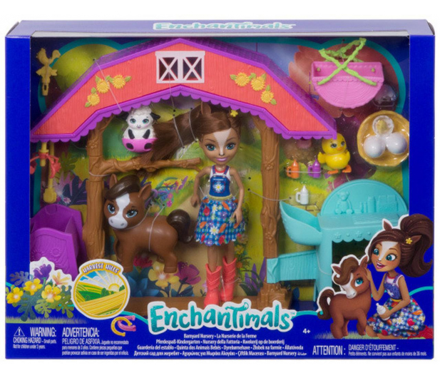 Mattel Enchantimals Harvest Hills Żłobek na farmie Zestaw - 539237 - zdjęcie 8