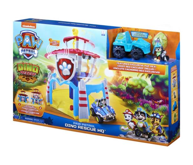 Spin Master Psi Patrol Dino Baza z windą Figurka Rex i pojazd - 1009993 - zdjęcie 4
