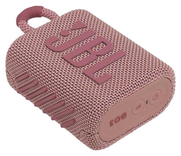 JBL GO 3 Różowy - 599263 - zdjęcie 3