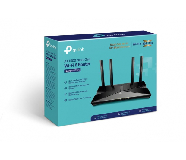 TP-Link Archer AX1500 (1500Mb/s a/b/g/n/ac/ax) - 595844 - zdjęcie 4