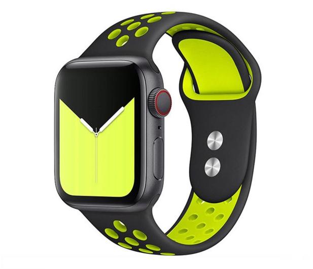 Tech-Protect Pasek Softband do Apple Watch black/lime - 605328 - zdjęcie