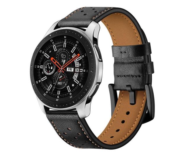 Tech-Protect Pasek Leather do smartwatchy czarny - 605306 - zdjęcie