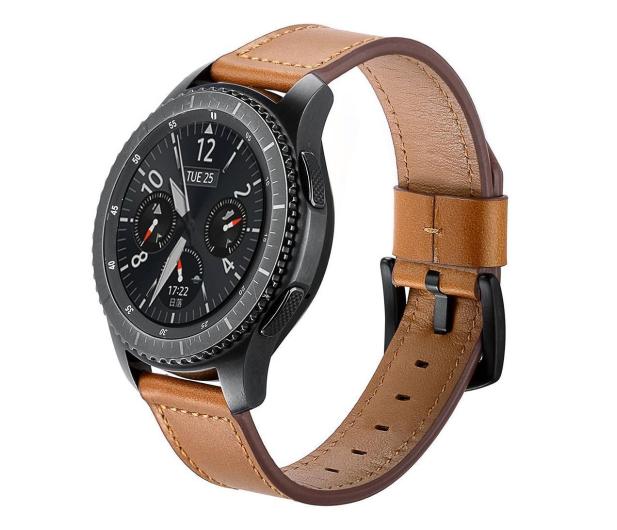 Tech-Protect Pasek Skórzany Herms do smartwatchy brązowy - 605283 - zdjęcie