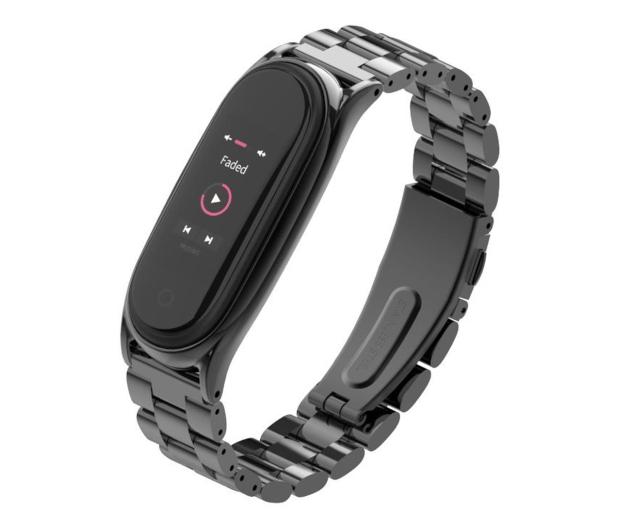 Tech-Protect Bransoleta Stainless do Xiaomi Mi Band 5 black - 605426 - zdjęcie