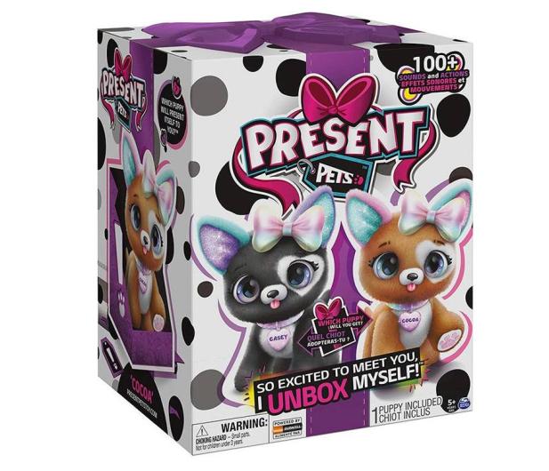 Spin Master Presents Pets Glitter Interaktywny piesek Elegancik - 1010478 - zdjęcie 2