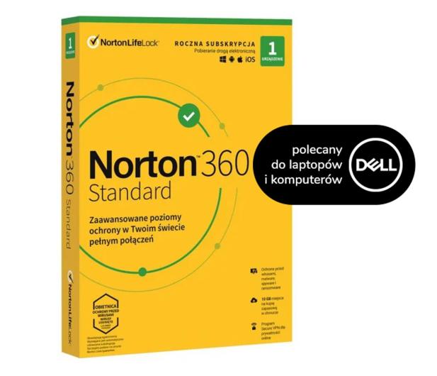 NortonLifeLock 360 Standard 1st. (12m) do desktopa/laptopa Dell - 582923 - zdjęcie