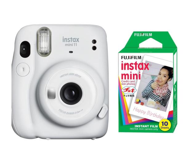 Fujifilm Instax Mini 11 biały + wkłady (10 zdjęć) - 606747 - zdjęcie