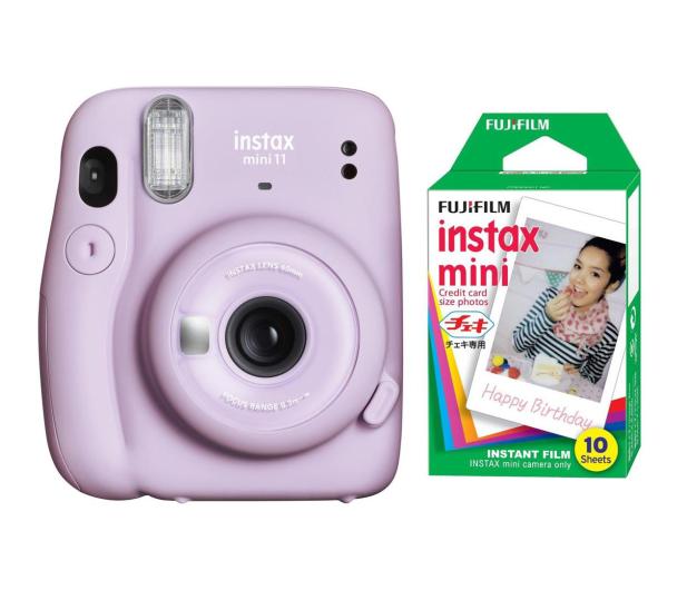 Fujifilm Instax Mini 11 purpurowy + wkłady (10 zdjęć) - 606750 - zdjęcie