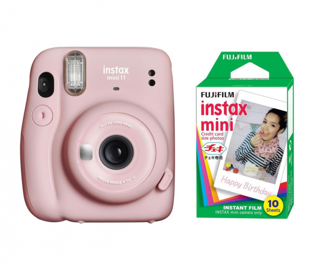 Fujifilm Instax Mini 11 różowy + wkłady (10 zdjęć) - 606743 - zdjęcie