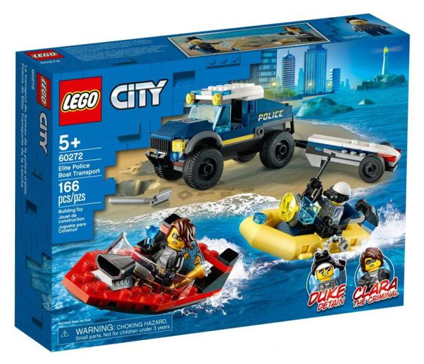 LEGO City Transport łodzi policji specjalnej - 1011778 - zdjęcie