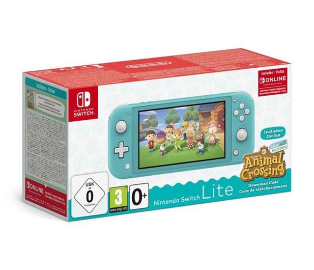 Nintendo Nintendo Switch Lite Turquoise + ACNH + NSO 3m. - 609799 - zdjęcie
