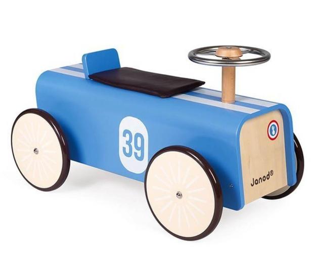 Janod Drewniany jeździk retro Bolid wyścigowy - 1011187 - zdjęcie