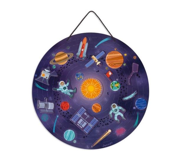 Janod Układanka drewniana magnetyczna z 20 magnesami Układ słonecz - 1011189 - zdjęcie