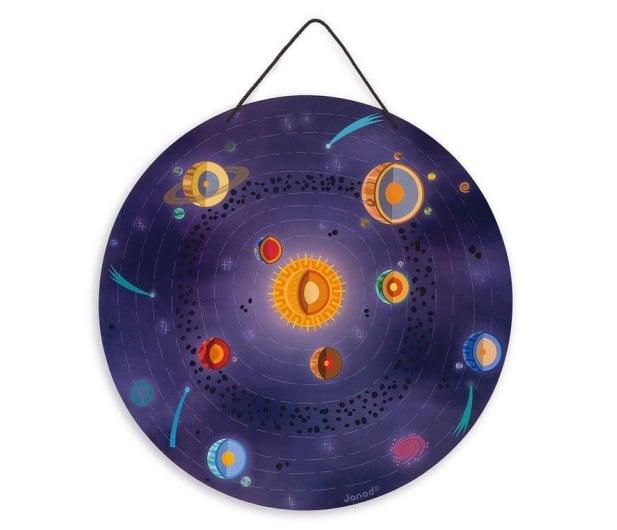 Janod Układanka drewniana magnetyczna z 20 magnesami Układ słonecz - 1011189 - zdjęcie 2