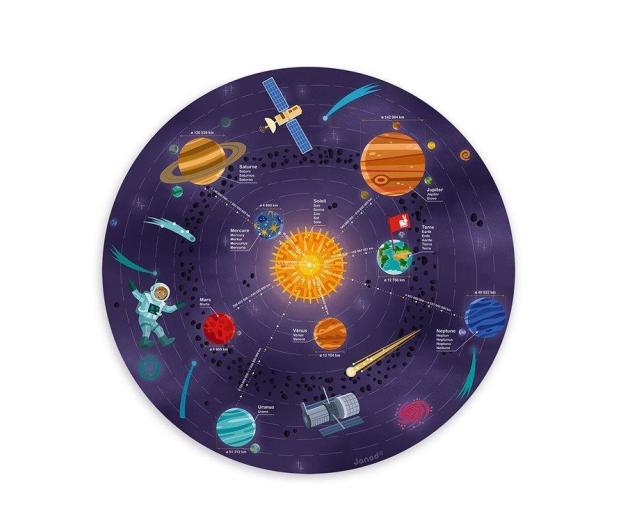Janod Układanka drewniana magnetyczna z 20 magnesami Układ słonecz - 1011189 - zdjęcie 3