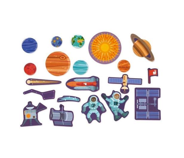 Janod Układanka drewniana magnetyczna z 20 magnesami Układ słonecz - 1011189 - zdjęcie 4