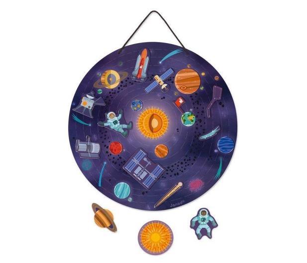 Janod Układanka drewniana magnetyczna z 20 magnesami Układ słonecz - 1011189 - zdjęcie 5