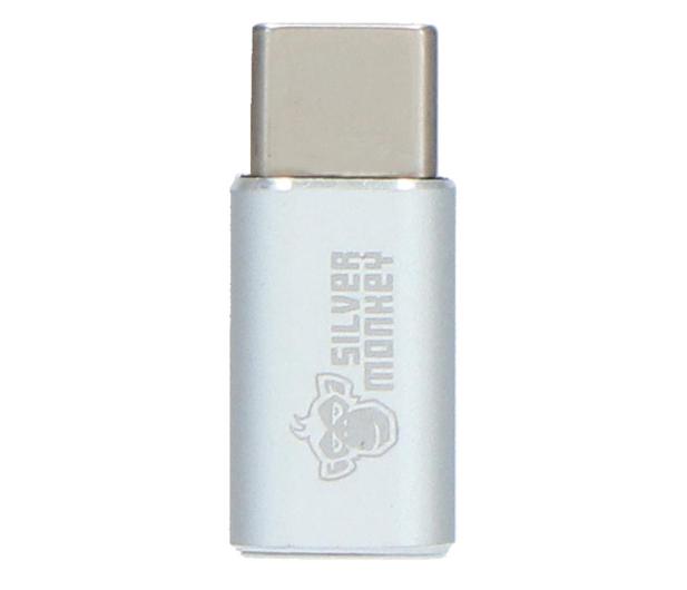 Silver Monkey Adapter USB-C - micro USB - 567534 - zdjęcie 3