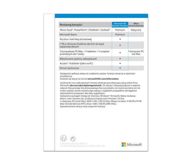 Microsoft 365 Business Standard - 557552 - zdjęcie 3