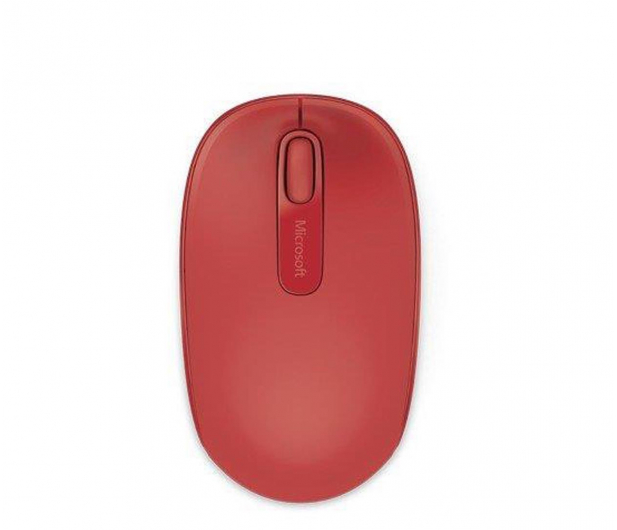 Microsoft 1850 Wireless Mobile Mouse Czerwień Ognia - 185692 - zdjęcie