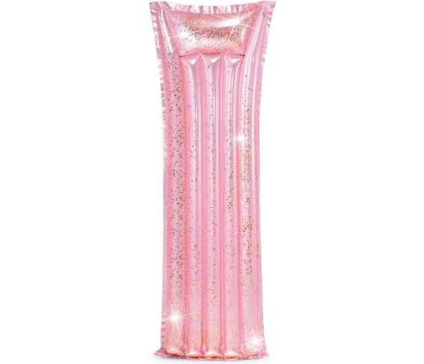 INTEX Materac dmuchany brokatowy różowy 170 x 53 cm - 550508 - zdjęcie 2