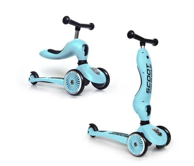 Scoot & Ride Highwaykick 1 Jeździk i hulajnoga 2w1 Blueberry - 573304 - zdjęcie