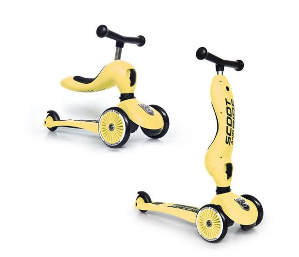 Scoot & Ride Highwaykick 1 Jeździk i hulajnoga 2w1 Lemon - 573307 - zdjęcie
