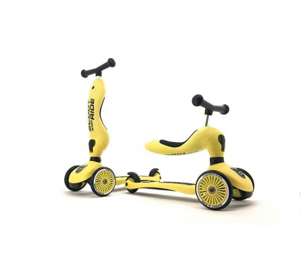 Scoot & Ride Highwaykick 1 Jeździk i hulajnoga 2w1 Lemon - 573307 - zdjęcie 4
